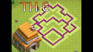 LAYOUT CV/TH 6 INDESTRUTÍVEL,HÍBRIDO, FARM E PUSH (ANTI PT)-CLASH OF CLANS