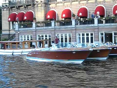 Riva boats in front of the amstel hotel amsterdam during - Amstel hotel amsterdam ...