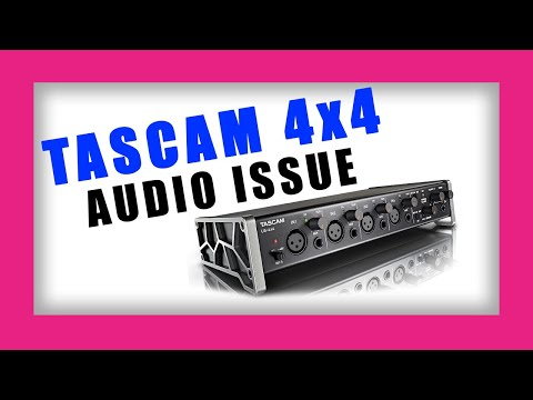 SETUP/FIX TASCAM 4x4 - AUDIO ISSUE