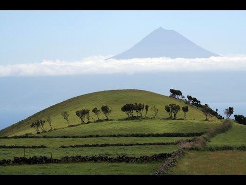 Pyramids of the Azores Islands in the Atlantic Ocean