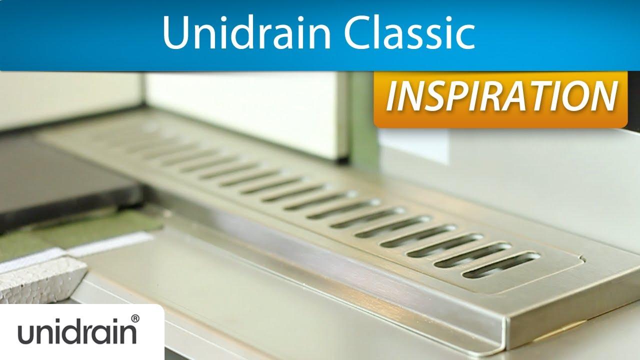 Unidrain Classic: Smart afløb til dit badeværelse - YouTube