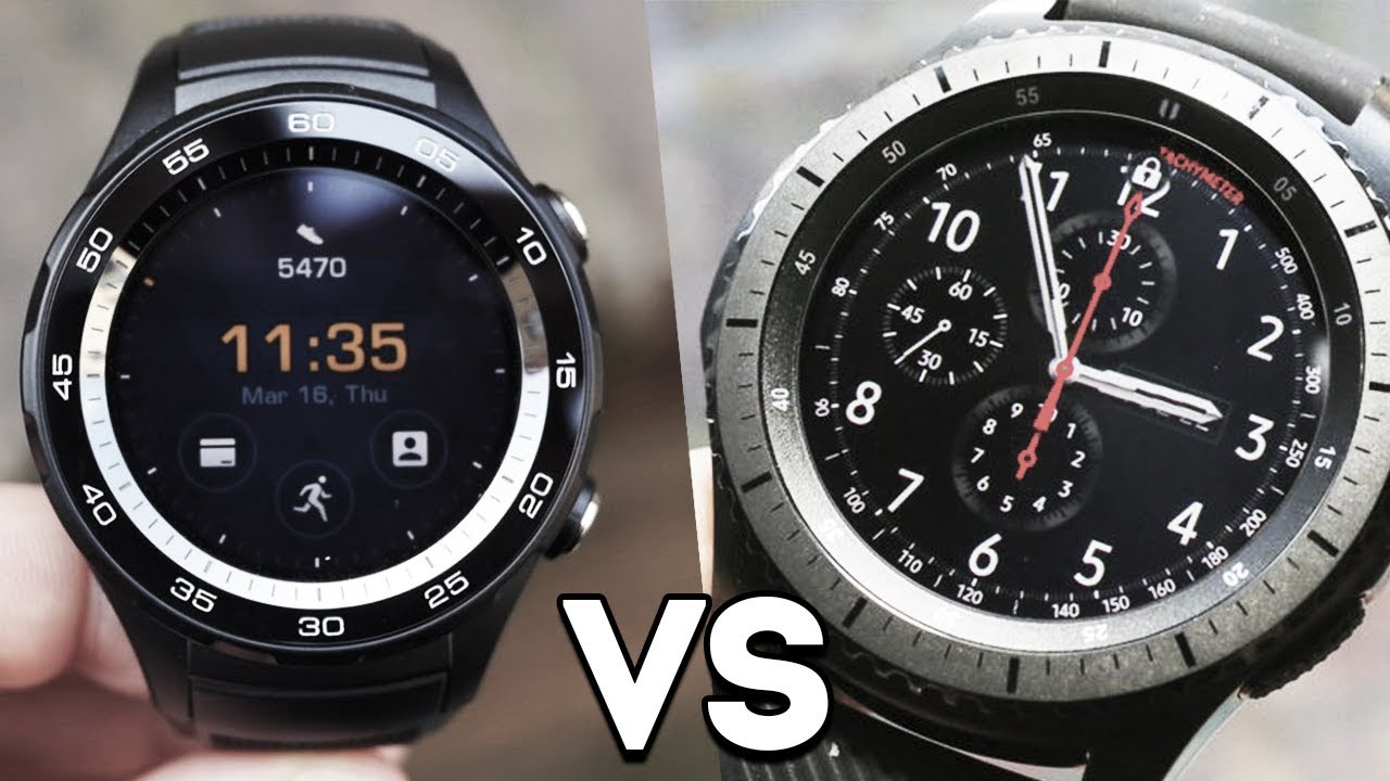 4038f2a650e Huawei watch 2 vs Samsung gear s3 Frontier Edition - YouTube