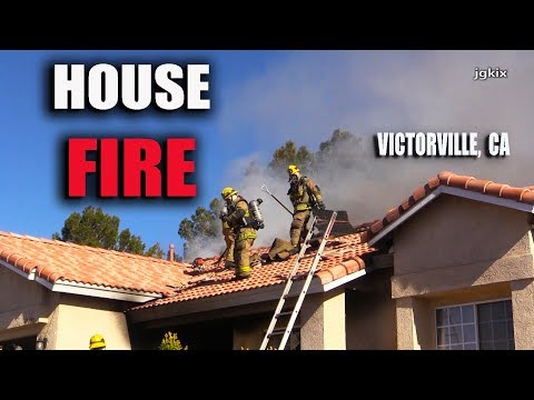 Victorville, CA House FIRE