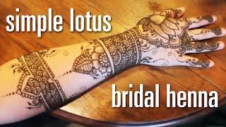 Lotus Henna Mehndi Design - Simple & Quick Modern Indian Bridal Henna Design - Free  henna pattern
