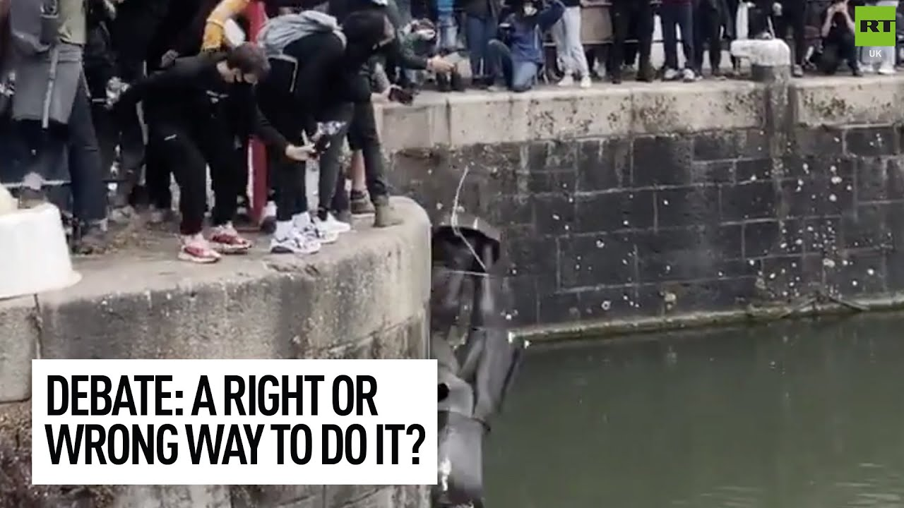 David Kurten debates a left-wing woman about the vandalism and removal of statues in the UK