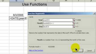 How to Calculate a Future Date in Excel 2003