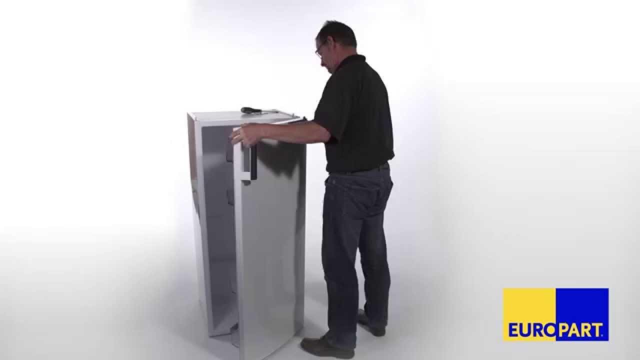 Amica Kühlschrank Tür Wechseln : Wie tauscht man die türscharniere bei einem kühlschrank youtube
