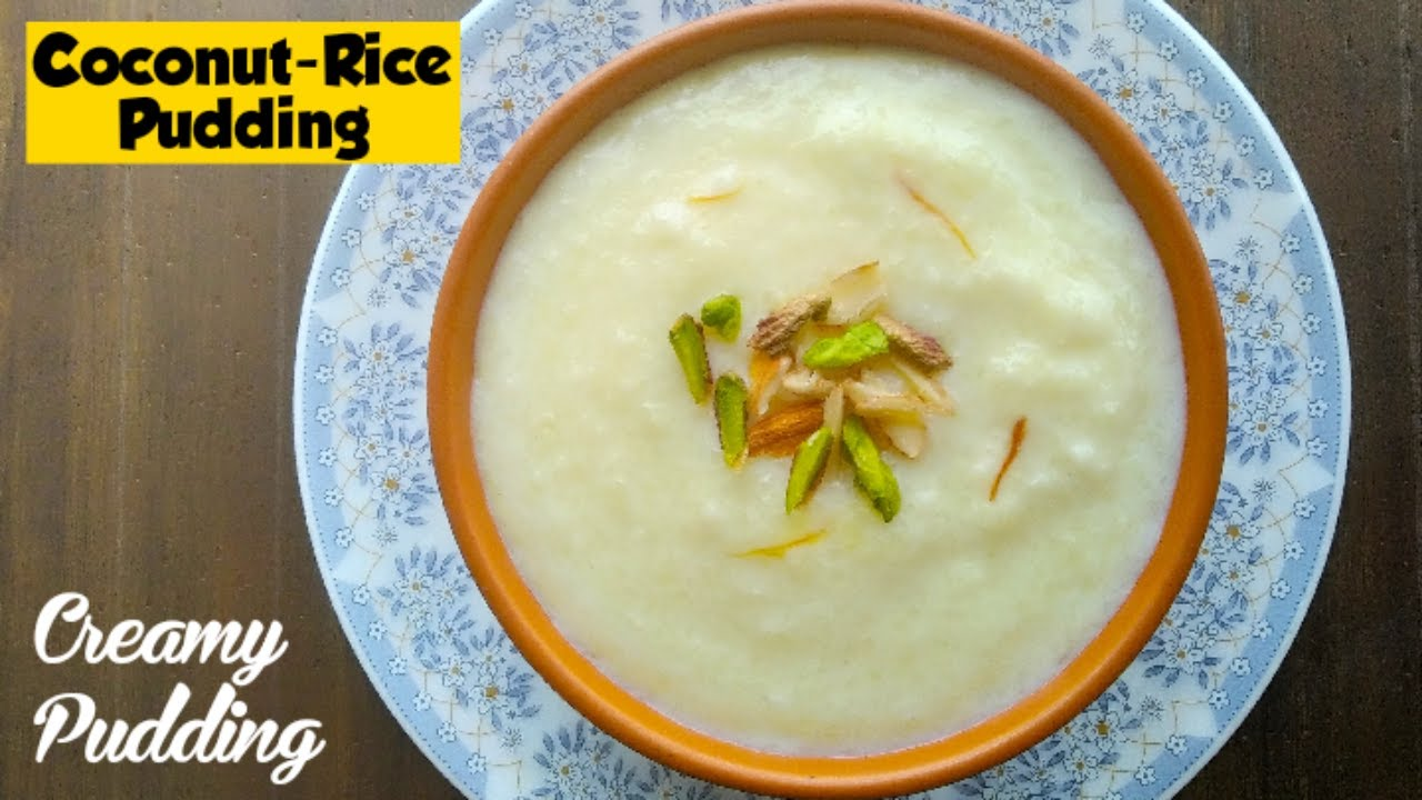 Creamy Coconut - Rice Pudding Using Leftover Cooked Rice ...