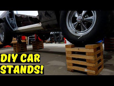 DIY Wooden Car Stands (Wheel Cribs)