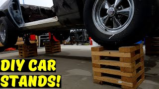 DIY Wooden Car Stands (Wheel Cribs)