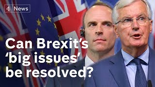 Raab and Barnier hold Brexit talks to resolve