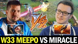 when MIRACLE meets W33 MEEPO in 7.25 Ranked Game Dota 2