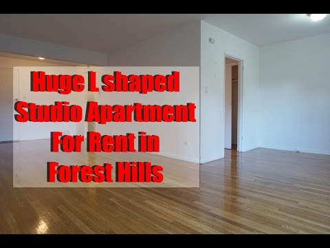 Huge L shaped studio apartment for rent in Forest Hills, Queens, NY