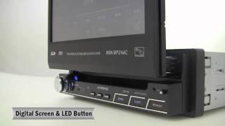 """xtrons D710 - 7"""" Digital High Definition Touch Screen/Bluetooth•DVD Player"""