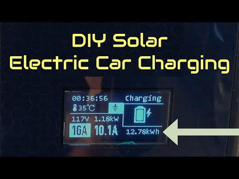Solar Electric Car Charging At Home
