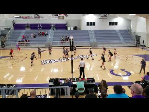 Bethany varsity volleyball vs Oklahoma Bible Academy 1st set
