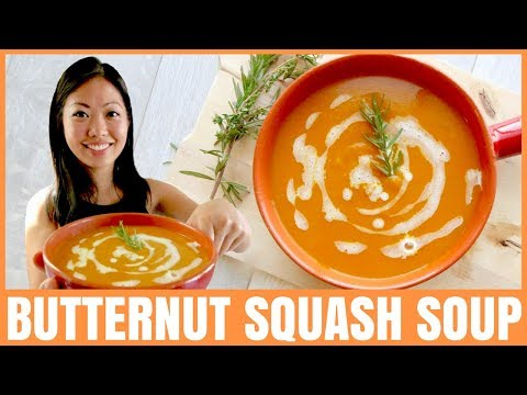 EASY BUTTERNUT SQUASH SOUP RECIPE / VEGAN / GLUTEN-FREE