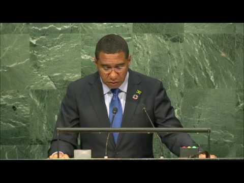 Prime Minister Andrew Holness Addresses 71st United Nations General Assembly