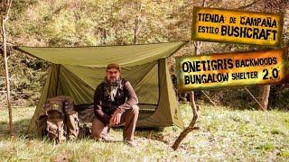 Tienda de Campaña Ultraligera Estilo Bushcraft | OneTigris Backwoods Bungalow shelter 2.0