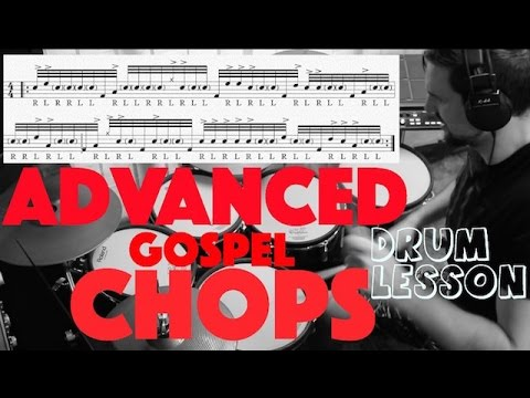 Download Advanced Gospel Chops - The 'H Bomb' Sequence - Drum Lesson by Nick Bukey