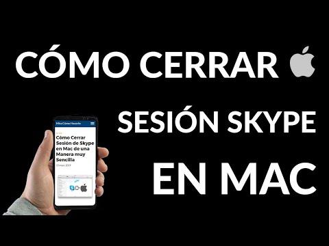Cómo Cerrar Sesión de Skype en Mac