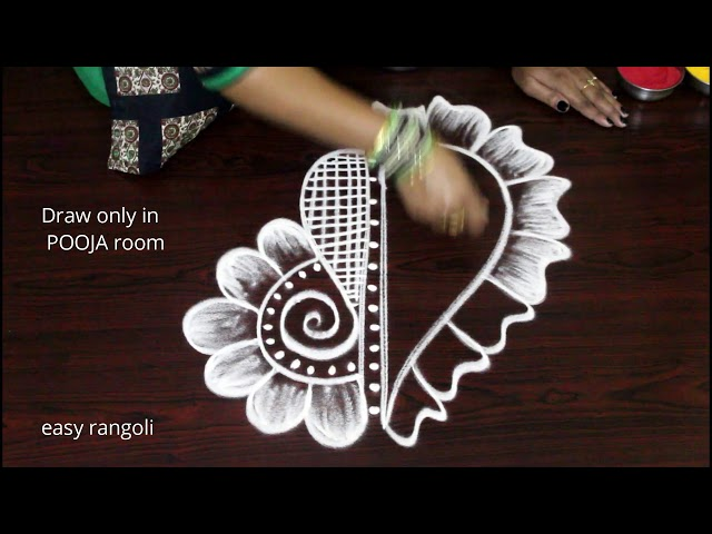 Ganesh Chathurthi Kolam rangoli designs for POOJA room - Vinayaka Chavithi Muggulu