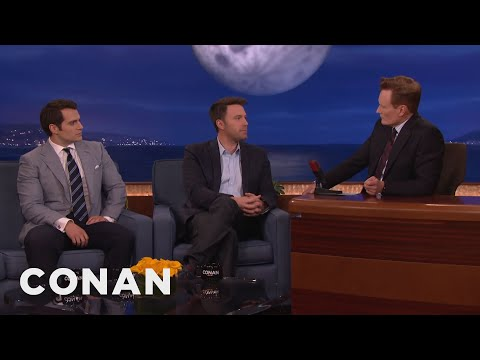 Ben Affleck & Henry Cavill's Reactions To Being Cast As Batman & Superman  - CONAN on TBS
