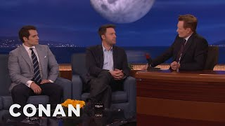 Download Video Ben Affleck & Henry Cavill's Reactions To Being Cast As Batman & Superman  - CONAN on TBS MP3 3GP MP4