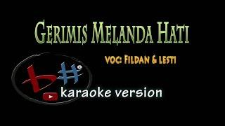gerimis melanda hati karaoke versi fildan&lesti(audio HD)