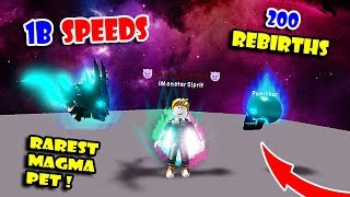 1 BILLION SPEEDS + 200 REBIRTHS & GOT ALL RAREST MAGMA PETS In Dashing Simulator Update!! [Roblox]