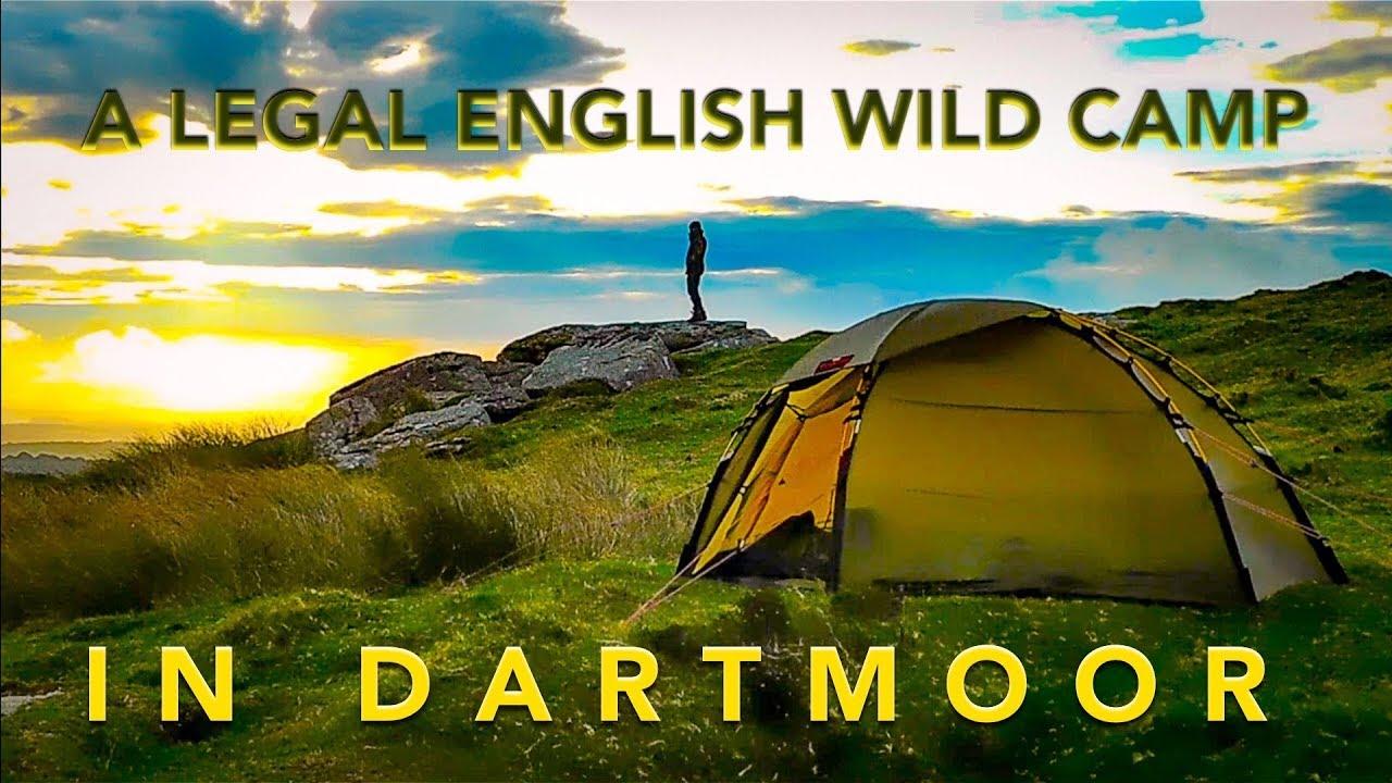 A Legal English Wild Camp in Dartmoor   Hilleberg Soulo ...