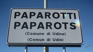 Friulian bilingual signs