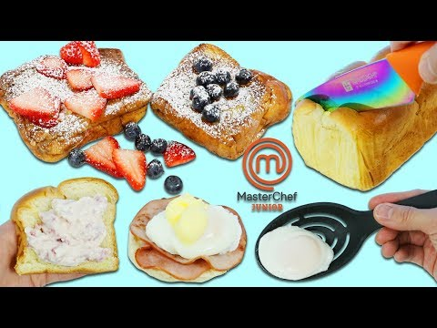Cooking for Kids with MasterChef Junior Stuffed French Toast & Eggs Benedict Breakfast Set!