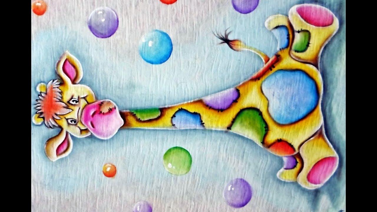 Como pintar girafinha pintura em tecido youtube for Pinturas para pintar