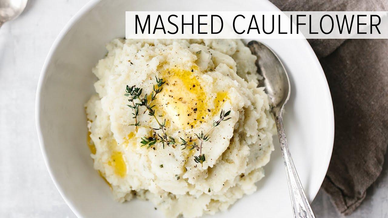 Cauliflower Mashed Potatoes Low Carb Mashed Cauliflower Recipe