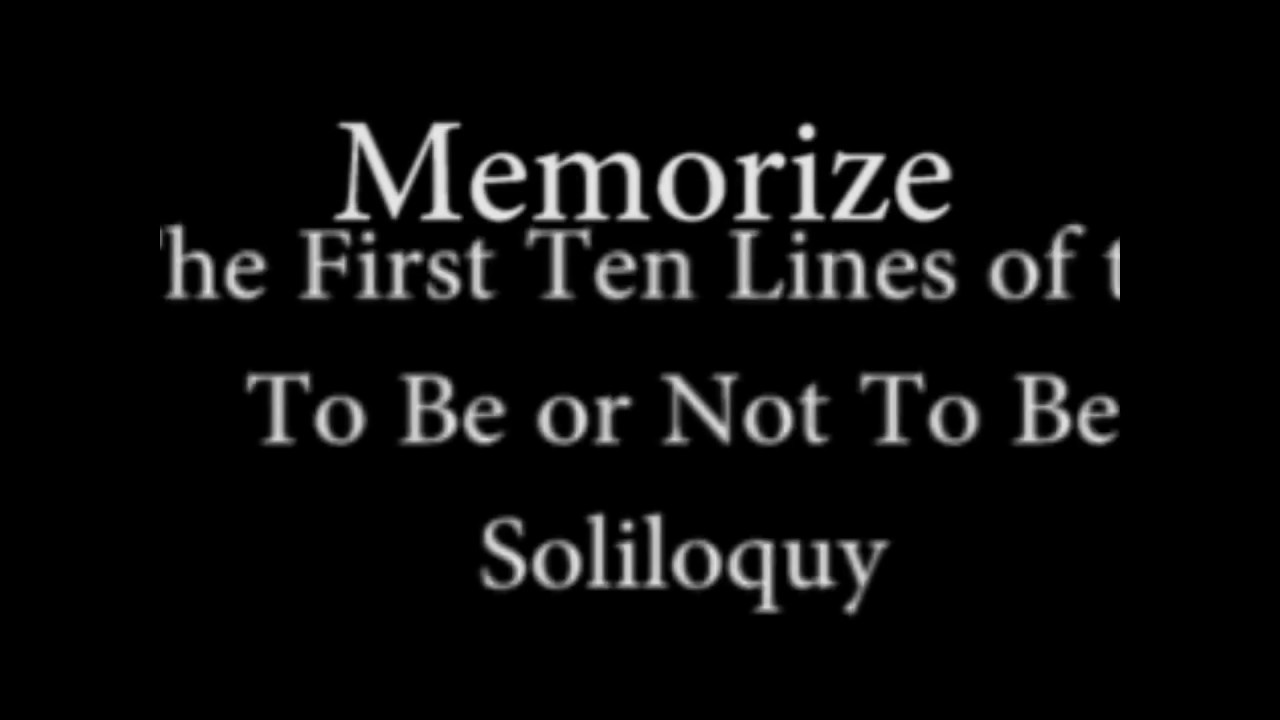 to be or not to be soliloquy