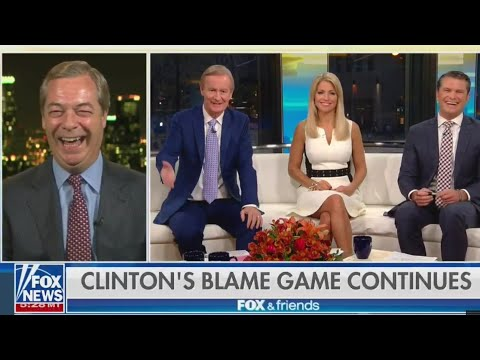 "Nigel Farage on Hillary Clinton ""She Hates Brexit, she hates me"" - 16th October 2017"