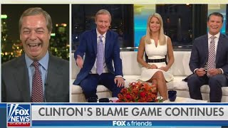 """Nigel Farage on Hillary Clinton """"She Hates Brexit, she hates me"""" - 16th October 2017"""