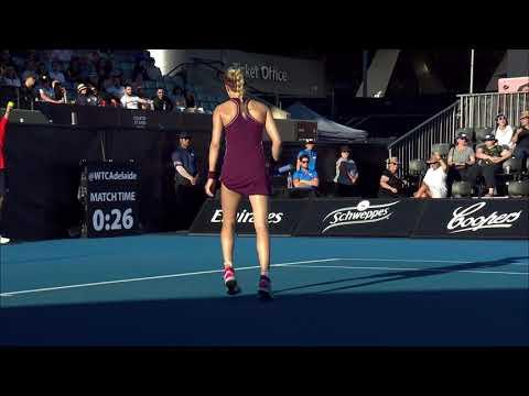 Eugenie Bouchard v Victoria Azarenka match highlights