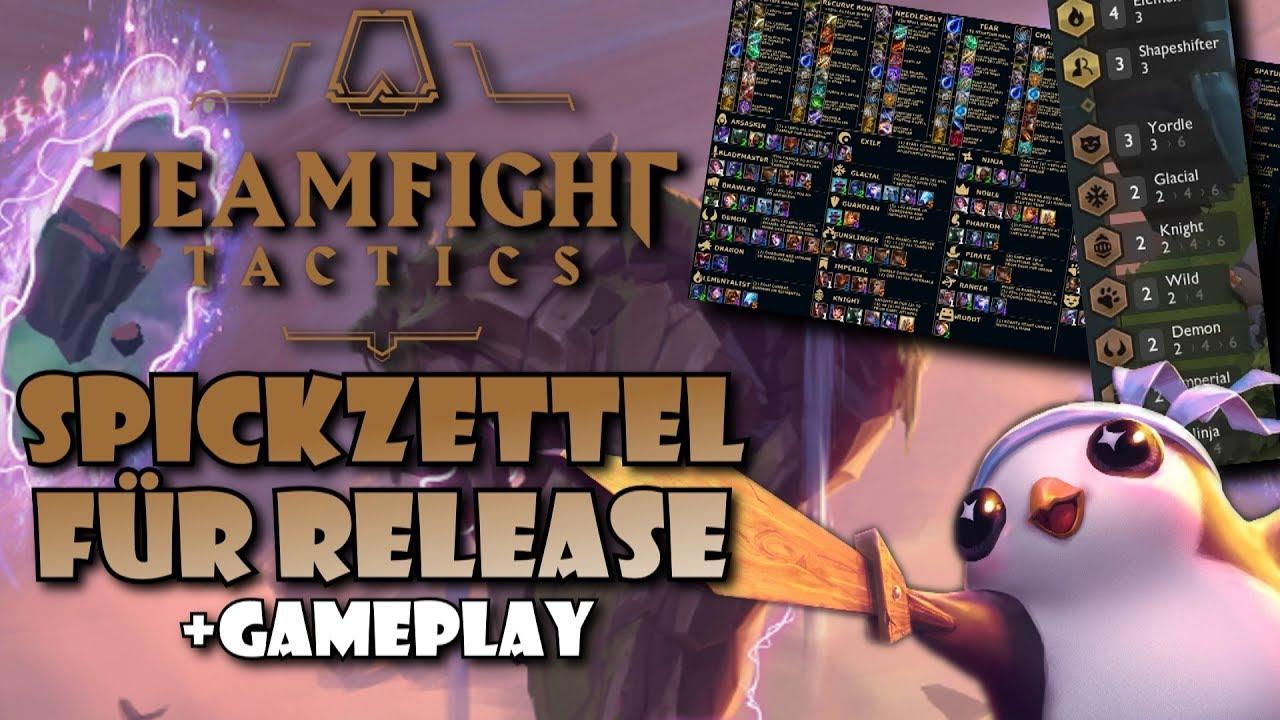TEAMFIGHT TACTICS Release Spickzettel + 21 Traits Endgame