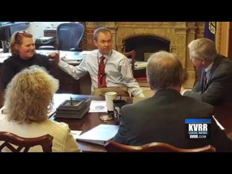KVRR: North Dakota Senators meet with White House on Fargo-Moorhead Diversion