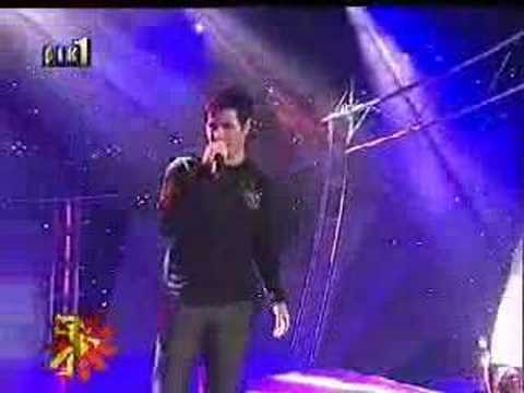 Giorgos Papadopoulos perfoming at the JESC selection