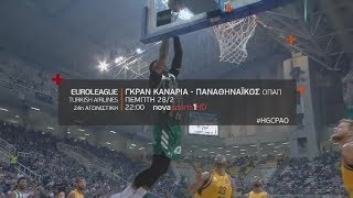 Euroleague 24η αγων. Γκραν Κανάρια - Παναθηναϊκός ΟΠΑΠ, 28/2!