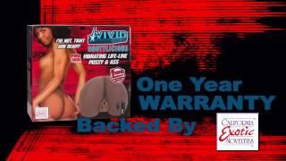 Мастурбатор реалистичный Vivid Raw Bootylicious с вибрацией мулатка
