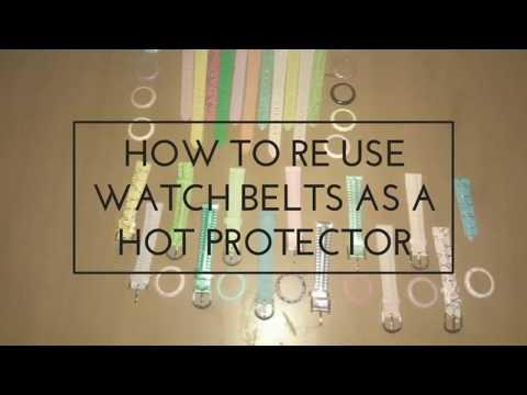 How to reuse watch belts DIY