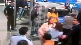 Egyptian ambassador slaps سفيرة مصر تصفع شرطية في مطار قبرص