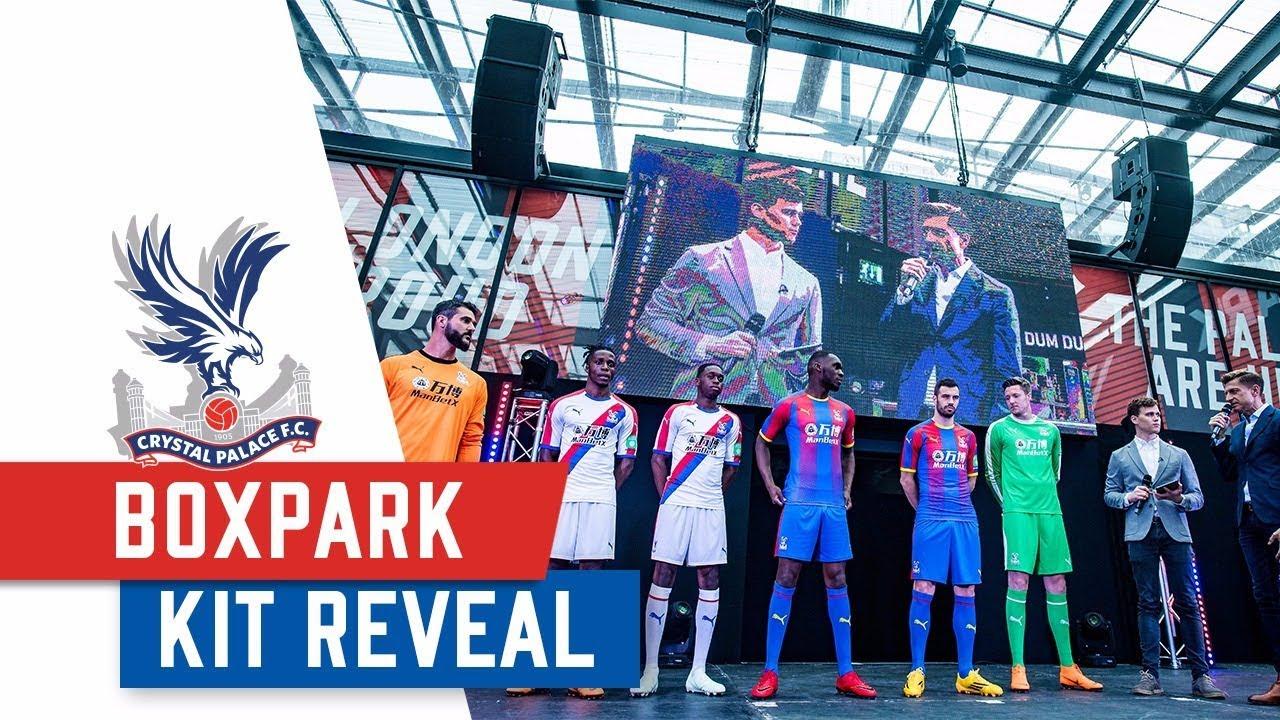 731a9769cd5 2018 19 Palace Puma Kit Reveal at Boxpark Croydon. Crystal Palace FC