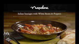 Italian Sausages with White Beans Peppers