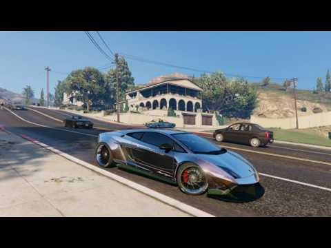 ► GTA V Redux   Ultra Realistic Graphics ENB   Lamborghini Gallardo Liberty Walk 1080p