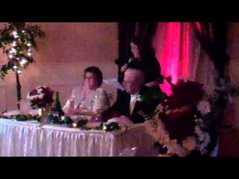 Donald & Beatrice Shrouder 50th wedding Anniversary toast